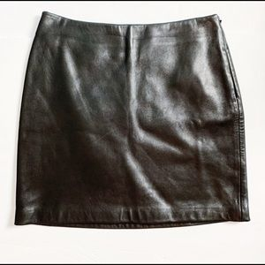 LEATHER PENCIL SKIRT MINI BANANA REPUBLIC